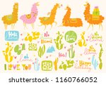 set of cute vector designs with ... | Shutterstock .eps vector #1160766052
