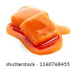 two pieces of melted caramel... | Shutterstock . vector #1160768455
