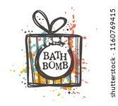 bath bomb concept design. hand... | Shutterstock .eps vector #1160769415