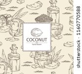 background with coconut ...   Shutterstock .eps vector #1160770588