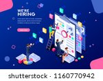 job presentation fair banner... | Shutterstock .eps vector #1160770942