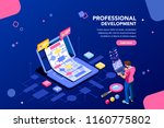 programmer person and... | Shutterstock .eps vector #1160775802
