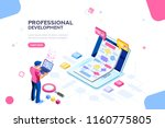 programmer person and... | Shutterstock .eps vector #1160775805
