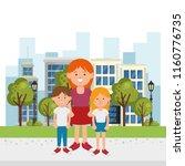 family members on the park | Shutterstock .eps vector #1160776735