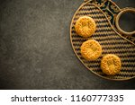 traditional pastry mooncakes is ... | Shutterstock . vector #1160777335