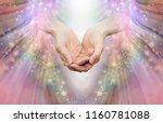 energy healer receiving high... | Shutterstock . vector #1160781088