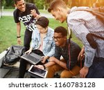 a group of students from... | Shutterstock . vector #1160783128