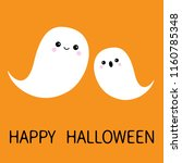 two flying floating ghost... | Shutterstock . vector #1160785348