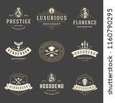 restaurant logos design... | Shutterstock .eps vector #1160790295