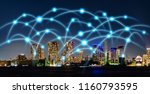 smart city and... | Shutterstock . vector #1160793595