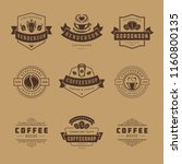 coffee shop logos design... | Shutterstock .eps vector #1160800135