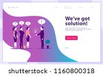 vector web page design template ... | Shutterstock .eps vector #1160800318