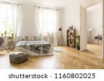 view at two rooms with white... | Shutterstock . vector #1160802025