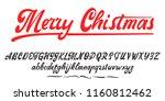 merry christmas  handwritten... | Shutterstock . vector #1160812462