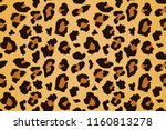 Stock vector leopard seamless pattern animal print vector background 1160813278