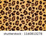 leopard seamless pattern.... | Shutterstock .eps vector #1160813278