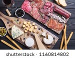 assortment of cheese and...   Shutterstock . vector #1160814802