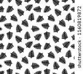 black tropical leaves seamless... | Shutterstock .eps vector #1160819872
