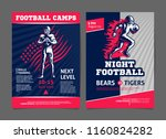 american football game and camp ... | Shutterstock .eps vector #1160824282