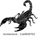 scorpion isolated on white... | Shutterstock .eps vector #1160830702