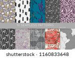 collection of seamless patterns.... | Shutterstock .eps vector #1160833648