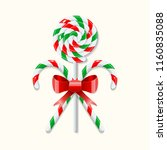 two crossed sweet christmas... | Shutterstock .eps vector #1160835088