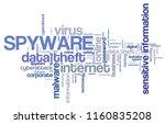spyware virus   compromised... | Shutterstock . vector #1160835208