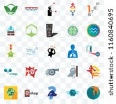 set of 25 transparent icons... | Shutterstock .eps vector #1160840695