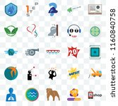 set of 25 transparent icons... | Shutterstock .eps vector #1160840758