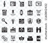 set of 25 transparent icons...