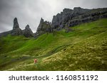 the famous old man of storr on... | Shutterstock . vector #1160851192