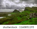 breathtaking panorama view over ... | Shutterstock . vector #1160851195