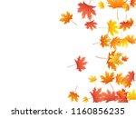 maple leaves vector background  ... | Shutterstock .eps vector #1160856235