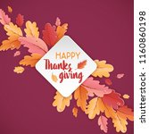 happy thanksgiving holiday... | Shutterstock .eps vector #1160860198