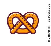 single german pretzel icon.... | Shutterstock .eps vector #1160861308