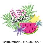 hello summer cartoons | Shutterstock .eps vector #1160863522
