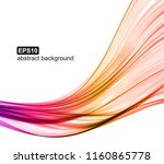 abstract colorful wave...   Shutterstock .eps vector #1160865778