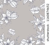 seamless pattern with flowers... | Shutterstock .eps vector #1160874652