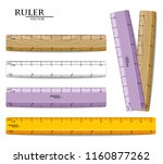 rulers set vector realistic.... | Shutterstock .eps vector #1160877262