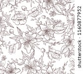 seamless pattern with flowers... | Shutterstock .eps vector #1160877952