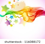Abstract colorful background with wave for party design - stock photo