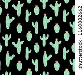 vector seamless pattern cactus... | Shutterstock .eps vector #1160882662