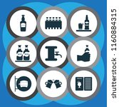 alcohol icons set with beer... | Shutterstock .eps vector #1160884315
