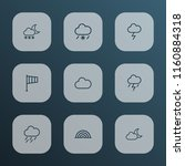 climate icons line style set... | Shutterstock .eps vector #1160884318