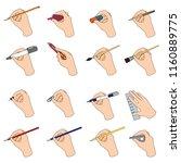 hands using stationary. | Shutterstock .eps vector #1160889775