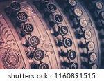 old cash register   antique... | Shutterstock . vector #1160891515