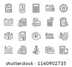 accounting line icons. set of... | Shutterstock .eps vector #1160902735