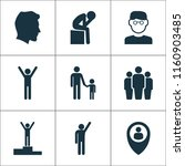 person icons set with... | Shutterstock .eps vector #1160903485