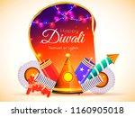 happy diwali celebration... | Shutterstock .eps vector #1160905018