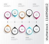 clothes icons line style set... | Shutterstock . vector #1160906812